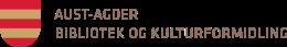 Logo: Aust-Agder bibliotek og kulturformidling