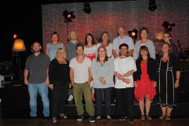 Alle deltakerne i NM i litteraturformidling, foto: Hege Solli