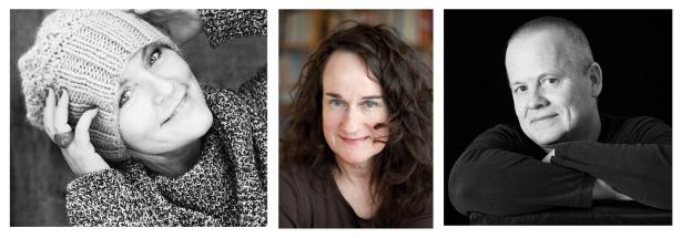 Ann Kavli, Torild Wardenær og Øystein Hauge. Foto av Kavli: Lisbeth Michelsen, foto av Wardenær: Geir Egil Bergjord, foto av Hauge:  olafoto/Ola B. Nøst